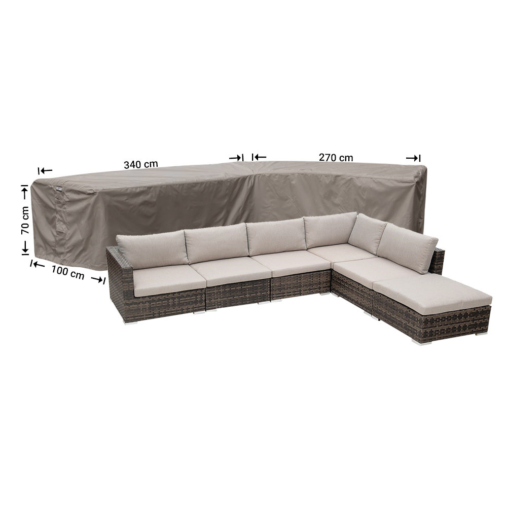 L-shaped outdoor sofa cover 340 x 270 cm - Garden Furniture ...