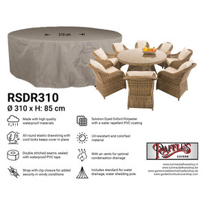 Raffles Covers Cover for circular patio set, Ø: 310cm & H: 85 cm