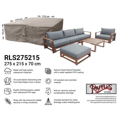 Raffles Covers Cover for outdoor lounge set 275 x 215 H: 70 cm