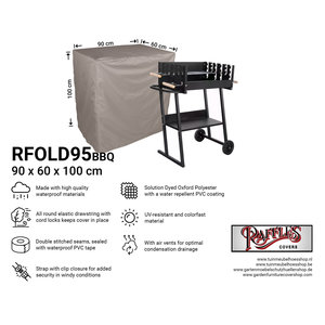 Raffles Covers Weather cover for flat grill,  90 x 60 H: 100cm