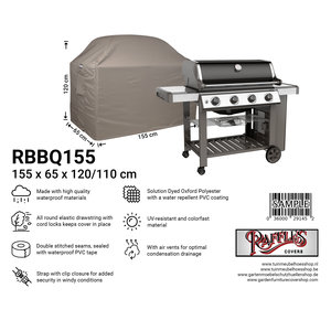 Raffles Covers Cover for outdoor grill, 155 x 65 H: 120 / 110 cm, taupe