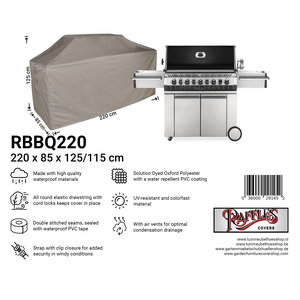 Raffles Covers Protection cover for an outdoor kitchen, 220 x 80 H: 125 / 115 cm