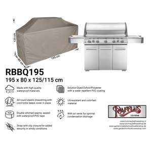 Raffles Covers Universal cover for barbecue, 195 x 80 H: 125 / 115 cm
