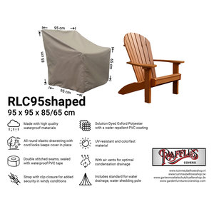 Raffles Covers Cover for adirondack chair, 95 x 95 H: 85 /65 cm