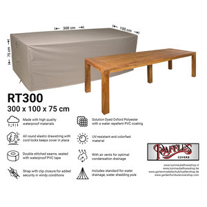 Raffles Covers Outdoor cover for table protection, 300 x 100 H: 75 cm