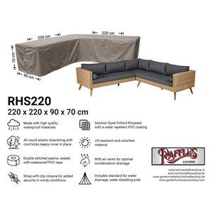Raffles Covers Corner sofa cover, 220 x 220 x 90, H: 70 cm