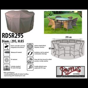 Raffles Covers Cover for circular patio set, Ø: 295 cm & H: 85 cm