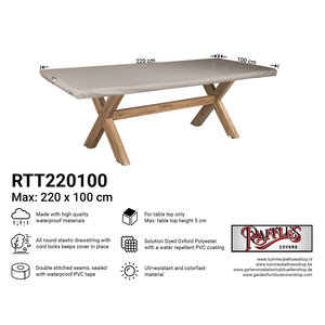 Raffles Covers Cover for outdoor table top, 220 x 100 cm