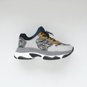 sneaker 66167-D light grey zebra
