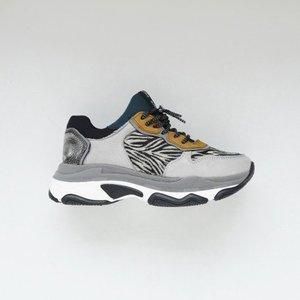 sneaker 66167-D light grey zebra