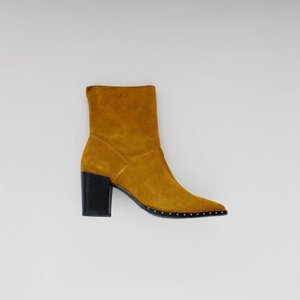 ankle boots winter yellow suede 34047-L