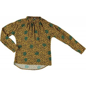 Geisha blouse tijgerprint mustard comb. 83926-20