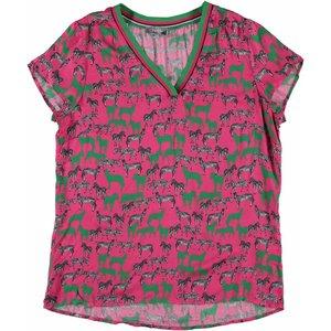 Geisha Top dierenprint pink/green combi. 93158-20