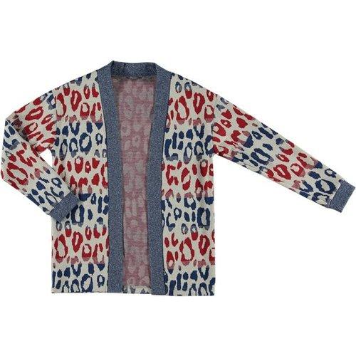 Geisha Jacket 95049-20 red/blue combi