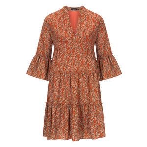 YDENCE Dress Fiona kort boho orange print