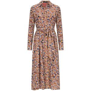 YDENCE Ydence Elvy Violets maxi dress flower print