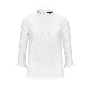 YDENCE Top Lacey embroidery white SS19007