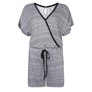 Zoso 193Aiko short jumpsuit black white
