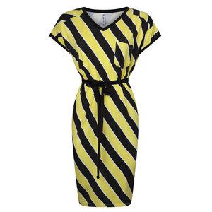 Zoso Striped dress 193Amanda black yellow