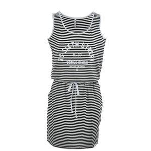 Zoso Striped dress with print 193Helma black white
