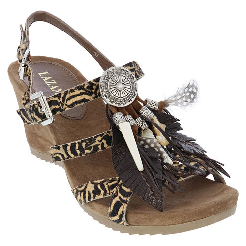 Lazamani Lazamani 75.651 ladies mules feathers wedge
