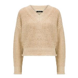 YDENCE Ydence knit V-neck Jill ecru