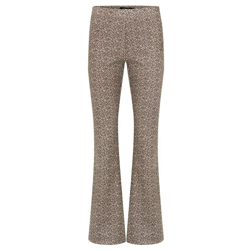 YDENCE Ydence leopard flared pants Brooke brown