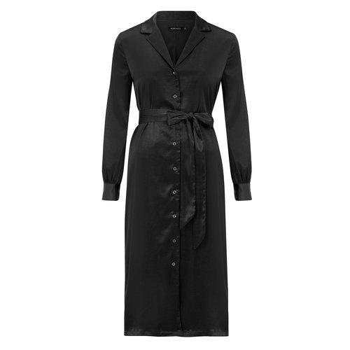 YDENCE Ydence satin maxi dress Cynthia black