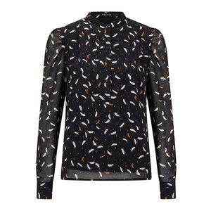 YDENCE Ydence blouse met print Marie Lou black