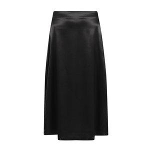 YDENCE Ydence satin midi skirt Elody black