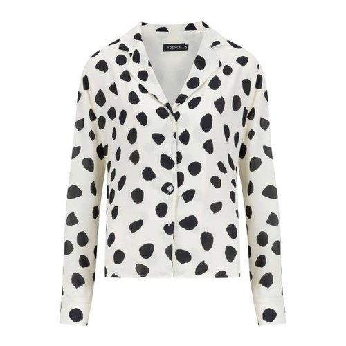 YDENCE Ydence blouse dots print white Fardau