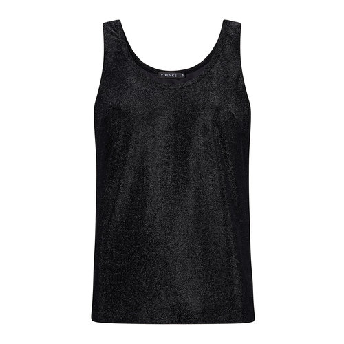 Ydence Ydence lurex top Miley black AW19008