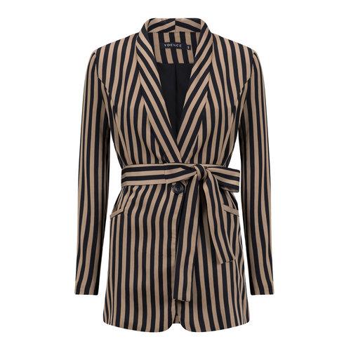 Ydence YDENCE blazer black stripe Nine AW19006