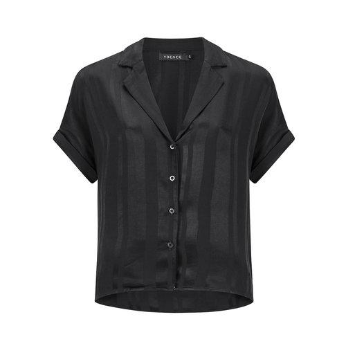 Ydence Ydence blouse Roxan short sleeve black AW19031