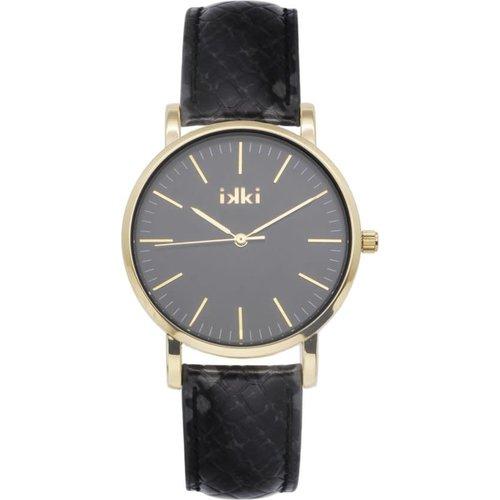 IKKI Ikki horloge JM19 Black python / gold / black