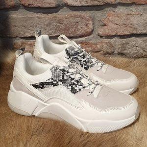 BullBoxer Bullboxer sneaker 077005F5S wit / beige