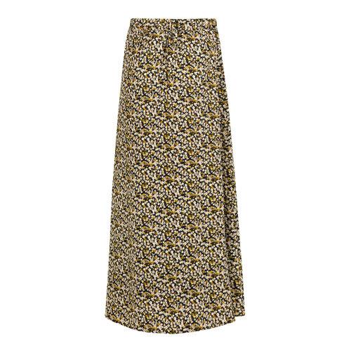 Ydence Ydence maxi skirt Rose black flower print
