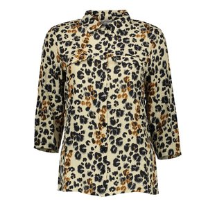 Geisha Geisha blouse leopard 03039-42 beige / black