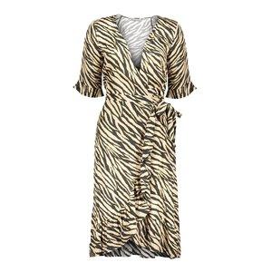 Geisha Geisha dress wrap with ruffle 07107-20 black/sand