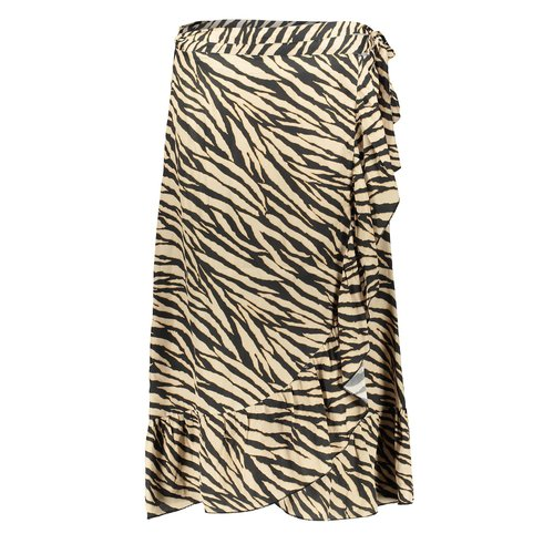 Geisha Geisha skirt wrap with ruffle 06118-20 black/sand