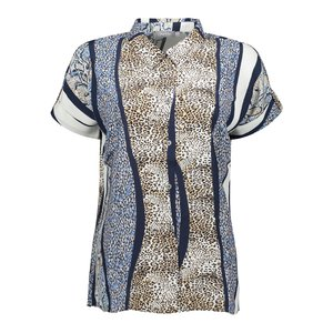 Geisha Geisha blouse animal 03285-20 sand/blue