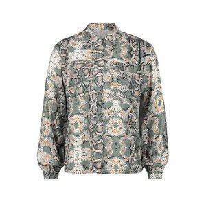 Aaiko Aaiko blouse Tianna vis 183 light steel green