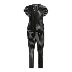 Geisha Geisha jumpsuit striped 01080-60 black/white
