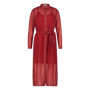 Freebird Freebird Harper maxi dress long sleeve red