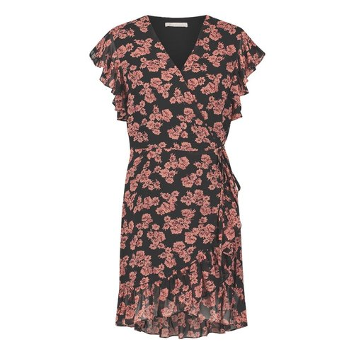 Freebird Freebird Rosy mini dress flower black pink