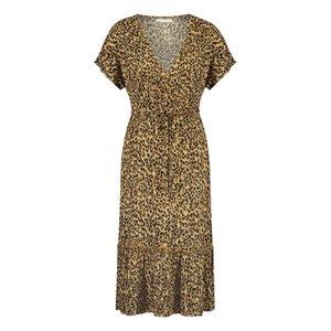 Freebird Freebird Tara midi dress leopard sand