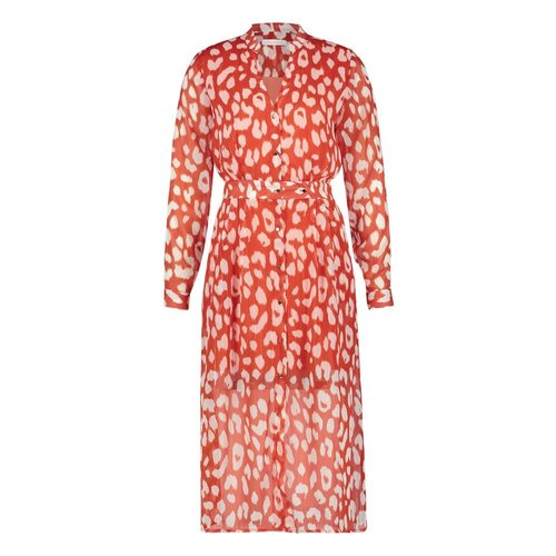 Freebird Freebird Stine midi dress orange