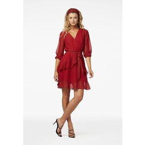 Freebird Freebird Lola mini dress 2/3 sleeve red