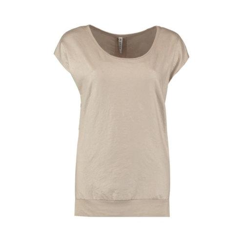 Zoso Zoso Sandy t-shirt leather look sand