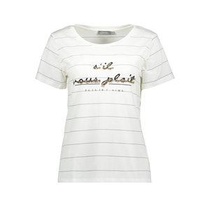 Geisha Geisha t-shirt Sil vous plait 02067-41 white/black/gold